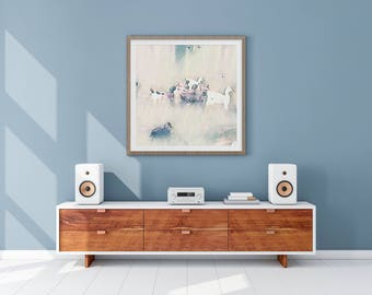 Fine Art Print // Wall Art // Abstract // Duckies // Gift for her // Gift for him // Home Decor