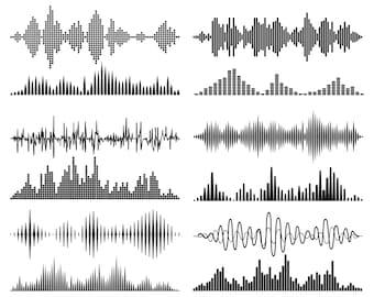 Sound Wave, Sound, Signal,  Silhouette,SVG,Graphics,Illustration,Vector,Logo,Digital,Clipart
