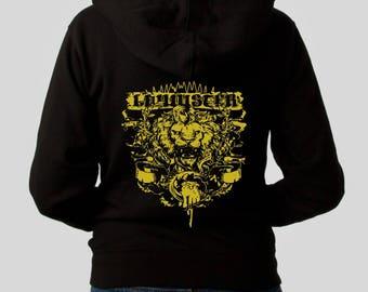 Sweatshirt woman womanHoodie LANNISTER gold ink different different sizes plus size sweatshirt