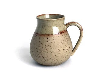 Naked ceramic speckled big mug