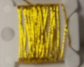 5 Feet of Gold Metallic Yarn
