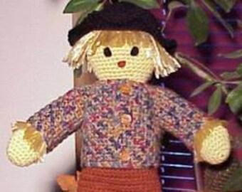 Sammy Scarecrow CROCHET PATTERN Fall, Autumn Doll