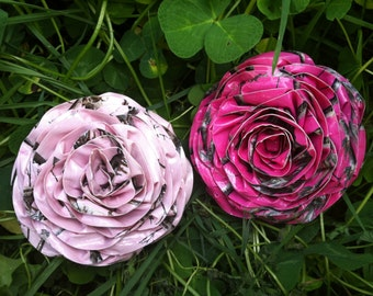 Pastel duct tape etsy dark pink duct tape flower hair clip light pink camo print aloadofball Choice Image