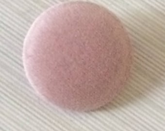 Pink Buttons, Velvet Buttons, Fabric Covered Buttons, Various Sizes, Shank Buttons, Large Buttons, Sewing Supplies, Coat Buttons