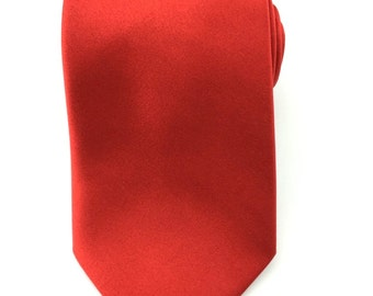 Solid Red 8.5cm Necktie. Formal Tie Wedding Necktie. Casual Tie For Wedding. Handmade Ties. Men's Red Formal Tie. Designer Red neck tie.
