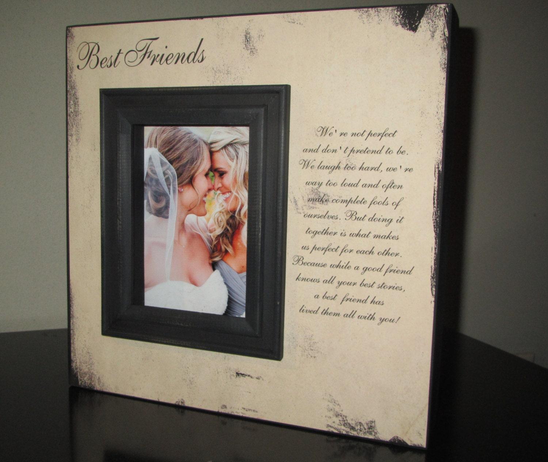 Best friend best friends picture frame poem quote bridesmaid zoom jeuxipadfo Gallery