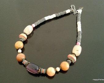Beaded necklace gemstone necklace women stone necklace bohemian necklace ethnic necklace choker necklace boho necklace chic beaded jewelry