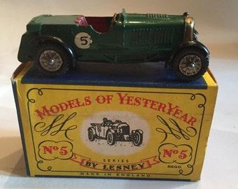 Models of Yesteryear No 5 Le Mans Y-% Bentley