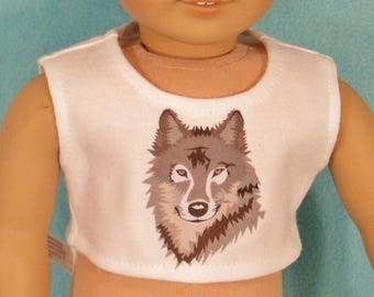18 inch Doll Wolf Graphic Crop Top