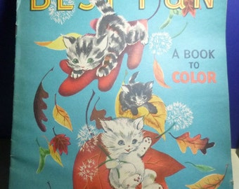 Vintage Best Fun Coloring Book, 1940-50s