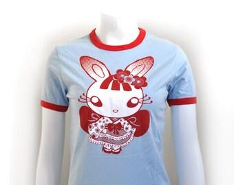 SALE Teen Kawaii wa goth bunny tee