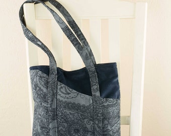 Blue on Blue Tote