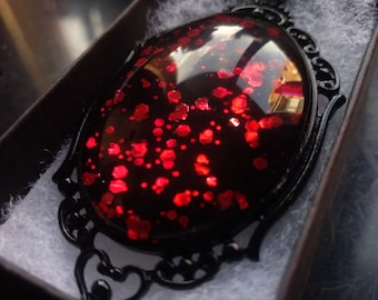Dragon Blood Gothic Necklace - Black gift box included