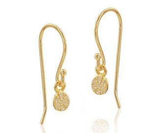 Diamond Earrings, 14K Solid Gols Earrings, Diamond Wedding Earrings, Unique Diamond Earrings, Dangle Diamond Earrings, Fast Free Shipping