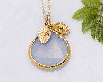Personalized Mothers Day Gift, Chalcedony Necklace - Mothers Necklace Gold, Personalized Necklace, Personalized Mothers Necklace, Mommy Gift