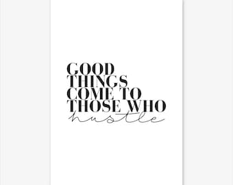 DREAMS DON'T WORK Unless You Do Typography Poster