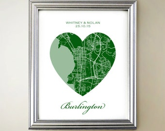 Burlington Heart Map