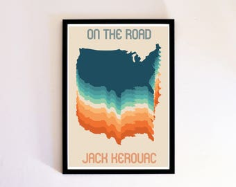 On the Road Book Cover Poster