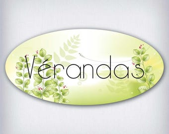 Door decal style oval verandas 031