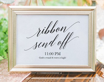 Printable Ribbon Send Off sign PDF - Instant Download Sign - Wedding Sign PDF - Sign Download - Wedding Printable - 8x10 and 5x7  - #GD0524