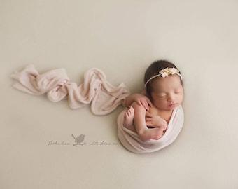 NEWBORN HEADBAND {Sadie} Newborn Photo Prop - Newborn Tieback - Newborn Headbands - Photography Props - Newborn Flower Crown - Photo Props