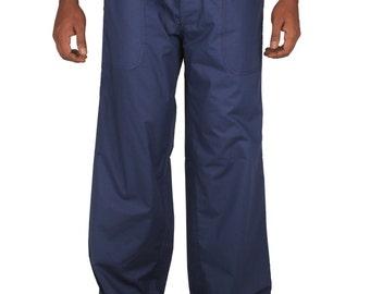 Mens Cotton Beach Boho  wedding  Drawstring Baggy  Pants, Yoga pants  regular and plus size.