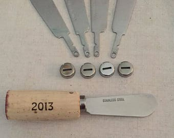 Cheese Spreaders, Hostess Gift, Wine Cork, Appetizer Spreader, Wedding Favor, Thank you Gift, Wine Cork Cheese Knife