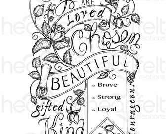 Heartfelt Creations Blushing Rose Background Cling Stamp Set HCPC-3757