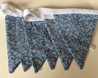 Blue Floral Print Bunting