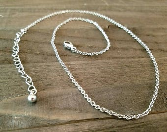 Finished Chain Necklace Wholesale Chain 21 Inch Chain Necklace Silver Chain Necklace Cable Chain Necklace Chain Silver Necklace