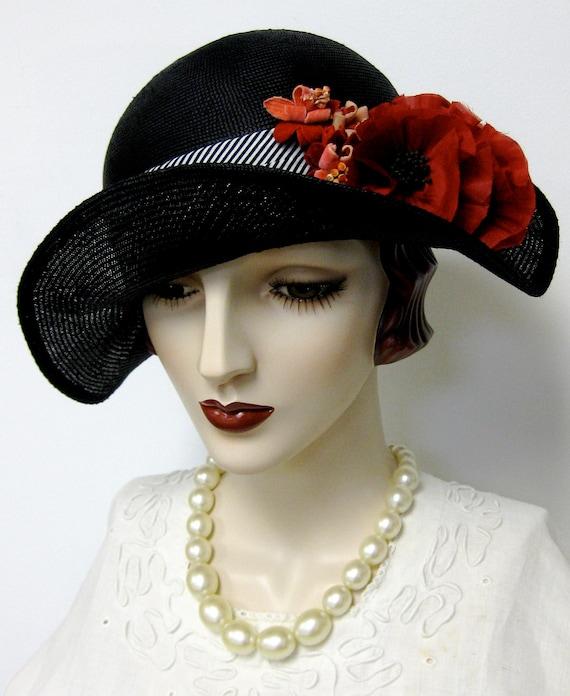 Bicorn Hat: Bicorn Bumper Hat With Poppies