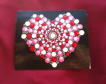 Pink, red and white Valentines Day heart card
