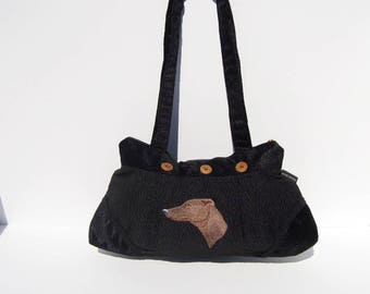 Brown Greyhound Pleated Purse