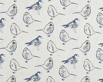 """Premier Prints Stoff-Vogel TOILLE-Regal blau Leinwand Slub-oder Farbe Choice-Fabric-By der Hof-54 """"breit-7 Unzen Dekorateur Baumwollstoff"""