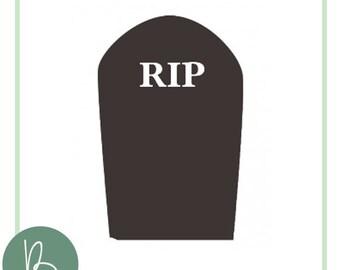 RIP Headstone SVG File