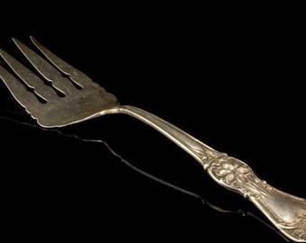Antique Art Nouveau Manchester Mfg Co Sterling Iris Server Fork