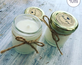 Eco-Friendly Scented Candle sold per unit perfect for weddings, parties, favour candles