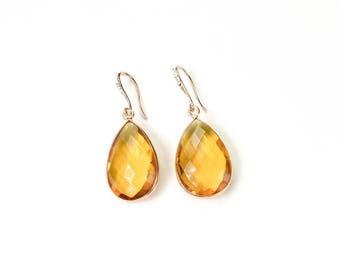 November birthstone November birthday gift yellow citrine November  Gemstone earrings Gift Ideas bridesmaid gift set 2 3 4 5 6  yellow