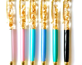 Gold Flake Filled Pen