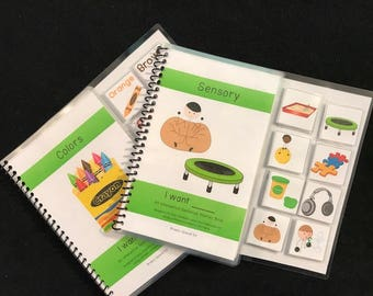 Sensory and Colors Sentence Starter Adapted Books (I Want)