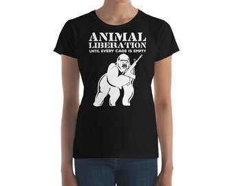 Until Every Cage is Empty Animal Liberation Women's short sleeve t-shirt