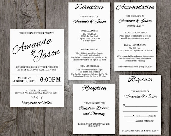 Pocket wedding invitation suite printable wedding invitation pocket wedding invitation suite printable wedding invitation template clean cursive design edit right in your browser pocketfold style stopboris Images
