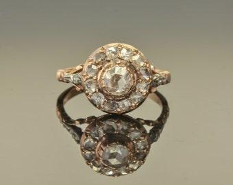 Georgian Flemish/Dutch 1.60 Ct diamond antique cluster ring