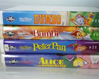 Set of 4 Black Diamond Disney Classics on VHS