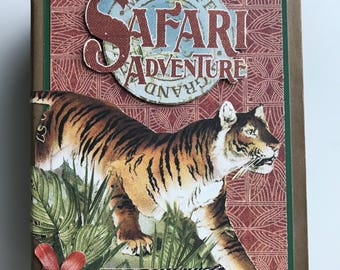 Safari Adventure photo album display book with interactive pages