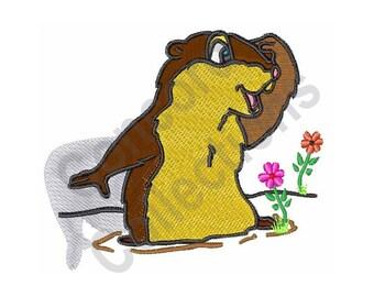 Groundhog Day Shadow - Machine Embroidery Design, Groundhog, Shadow, Groundhog Day