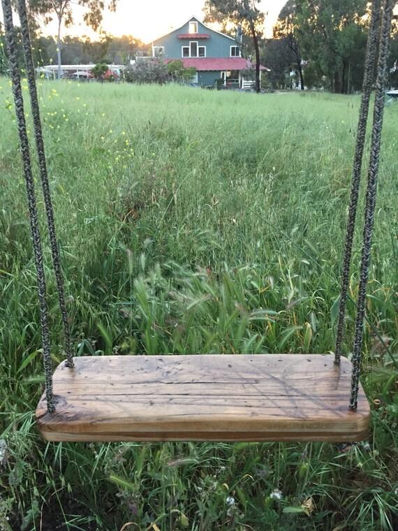 Custom Reclaimed Wood Swing   Solid Maple   Fall Decor   Tree Swing   Porch  Swing   Indoor Swing   Outdoor Swing **READY TO SHIP** Nice Ideas