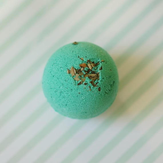 Purely Peppermint Bath Bomb Fizzy 2 Sizes Available Handmade