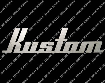 Kustom Metal Sign