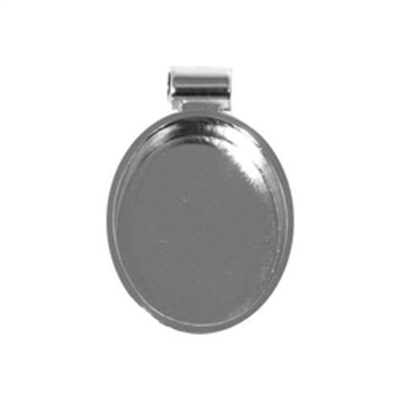 Silver Oval Bezel, embellish this with polymer clay, resin, crystals, beads and more.